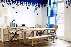 Dining room ideas for whether you're looking for dining room furniture inspiration or are in search of small or large dining room decorating ideas, we have all the inspiring pictures you need to ensure your stylish eaterie is the hot topic at the table Dining Room Furniture Inspiration, Home Furniture, Casamance, Decoration Design, Dining Room Design, Dining Rooms, My New Room, Wallpaper, Room Decor