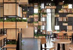 Café modular em Pequim na China incentiva arquitetura verde no país- estúdio de arquitetura e design Penda