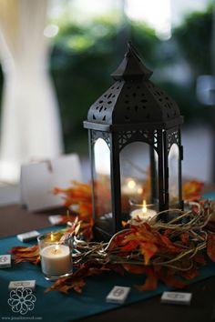lanterns in centerpiece