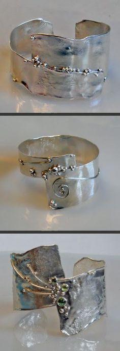 reticulated sterling silver bracelets #SilverJewelry