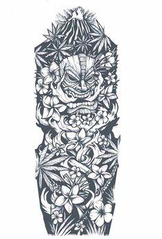 dessin-tatouage-polynésien-bras-entier tattoo designs ideas männer männer ideen old school quotes sketches Tiki Tattoo, Hawaiianisches Tattoo, Totem Tattoo, Tattoo Feather, Tattoo Fonts, Tattoo Quotes, Polynesian Sleeve Tattoo, Polynesian Tattoo Designs, Hawaiian Tattoo
