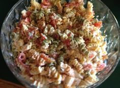 Colorful Pasta salad with crab