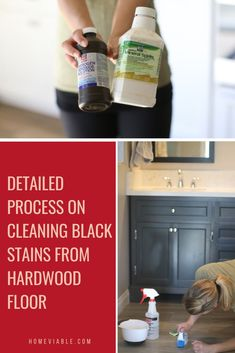 Learn how to remove black stains from hardwood floors with this easy guide. We show you how to remove stains from pets, urine, or water and restore your flooring. #homeviable #black #stain #hardwood #flooring Floor Cleaning, House Cleaning Tips, Deep Cleaning, Cleaning Hacks, Hardwood Floor Wax, Clean Hardwood Floors, Best Canister Vacuum, All Natural Cleaning Products, Best Cleaner