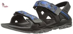 Merrell Mi Hydro Drift, Sandales de Randonnée Garçon, Multicolore (Black/Navy), 34 EU - Chaussures merrell (*Partner-Link)
