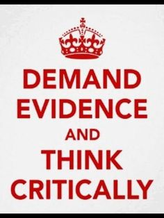Critical thinking poster - A fun way to encourage and remind students to think critically and then back it up with evidence.