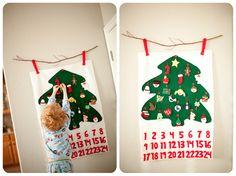 homemade advent calendar....all felt.