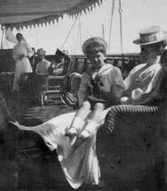 Empress Alexandra Feodorovna of Russia and Tsarevich Alexei Nikolaevich Romanov of Russia ca. 1908-1909.A♥W