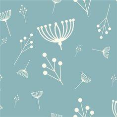 Bio-Stoffe - Bio Stoff, Pusteblumen, Birch, Charley Harper - ein Designerstück von FrauFrech-und-HerrFroehlich bei DaWanda
