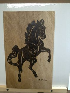 Horse done on Oak