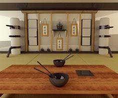 japanese_dojo - padded spinning makiwara
