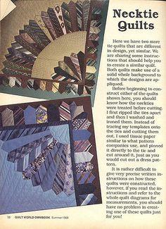https://flic.kr/p/wcLAN | Necktie Quilts | From Quilt World Omnibook, summer 1988