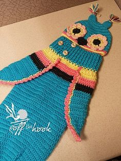 [Free Crochet Pattern] Adorable Baby Owl Cocoon & Hat Pattern Can Be Easily Turned Into Just About Any Bug