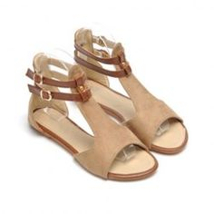 d634b4da1601  14.01 Casual Women s Sandals With Suede Flat Heel and Vintage Style Design  Wholesale Sandals