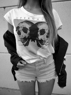 Rocker Chic fashion inspiration. #skulls #style WANT!!!!!!!!!!!!!