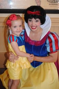 My Carolyn & Snow White, The fairest ones of All, at the Magic Kingdom