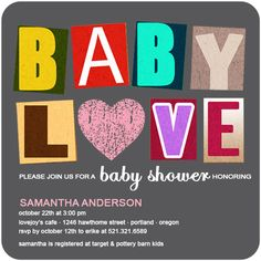 dcc9e4a54344 Richly Figured Colorful Baby Shower Invites HPBS229  HPBS229