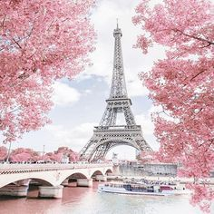 Paris - How pretty is this view of the Eiffel tower? Eiffel Tower Photography, Paris Photography, Nature Photography, Paris Images, Paris Pictures, Beautiful Paris, Paris Love, Pink Paris, Beautiful Nature Wallpaper