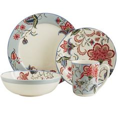 A fresh update on traditional ironstone Angelina is all bold floral patterns and bright garden  sc 1 st  Pinterest & Carynthum Dinnerware | Pier 1 Imports | Things I\u0027d Love...Wish List ...