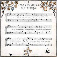 Sheet Music - I Had a Little Nut Tree