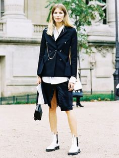 Fresh Ways to Wear a Classic Button-Down via @WhoWhatWearUK