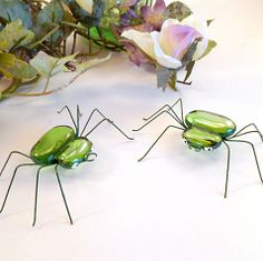 Fat Green Spiders Handmade by SpiderwoodHollow on Etsy, $24.00