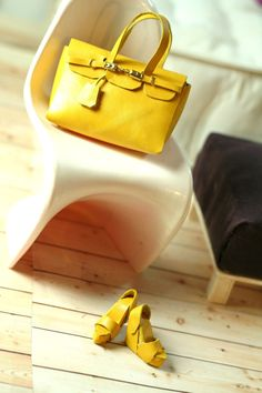 fashion royalty doll yellow birkin bag and shoes by dollsalive, $38.00