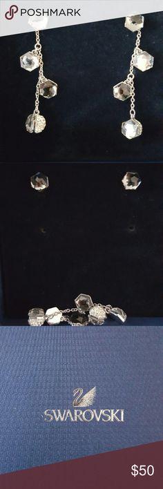 Swarovski Crystal Earrings Pretty crystal earrings. Can wear as studs. Wore twice Swarovski Jewelry Earrings