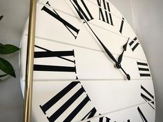 Your place to buy and sell all things handmade White Wall Clocks, Cream White Color, Handmade Clocks, Wooden Walls, Stuff To Buy, Etsy, Wood Walls, Timber Walls