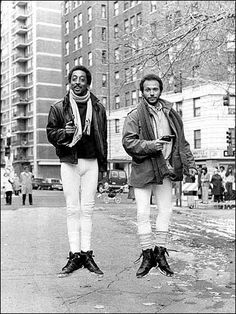 """Gregory Hines & Billy Crystal in a scene from the 1986 movie """"Running Scared"""""""