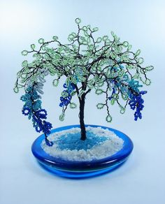 Beaded Willow Sculpture Tree by wireforest on Etsy, $75.00