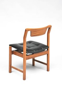 Michel Mortier; #SC104 Teak and Leather 'Hexagone' Chair for Steiner, 1960.