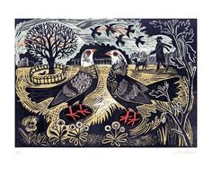 Mark Hearld -Pigeons in the park