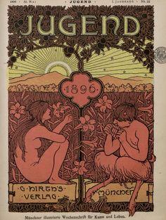 1896 Die Jugend magazine cover. (Ephemera)
