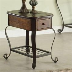 Riverside 54710 Eastview Chairside Table available at Hickory Park Furniture Galleries