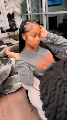 Sew In Hairstyles, Black Girl Braided Hairstyles, Baddie Hairstyles, Frontal Hairstyles, Hairstyles Pictures, Dreadlock Hairstyles, Reverse Ombre Hair, Curly Hair Styles, Natural Hair Styles