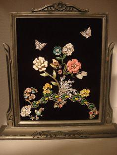 framed jewelry  | Vintage Framed Jewelry Art