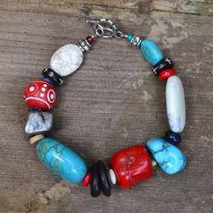 Chunky Bracelet Native American Western by ColourMadeMeDoIt, $58.00