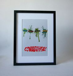 """""""Cowabunga"""" Print in A4 and A3"""