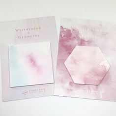 These beautiful watercolour sticky notes are available in two different colours and shapes.  They are perfect for using with planners, notebooks, office stationery and scrapbooking or even just to take quick notes around the house!  You will receive one set of self adhesive notes. If you would like a wholesale order please let me know in advance.