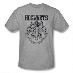 Hogwarts Crest Athletic Adult Heather TShirt $25 XL