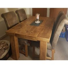 Make a statement with our rustic Clumber Beam Top Table. Chunky legs and a reclaimed timber beam look top, made to last.