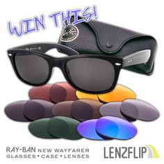 LenzFlip - Win Ray-Ban Wayfarer Sunglasses & 7 Sets of Replacement Lenses - http://sweepstakesden.com/lenzflip-win-ray-ban-wayfarer-sunglasses-7-sets-of-replacement-lenses/