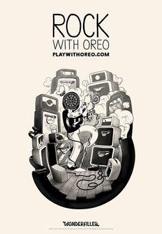 conocidos ilustradores diseñan para Oreo