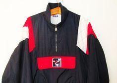 Vintage 1990's FILA Pullover Windbreaker by FreshtoDeathVintage