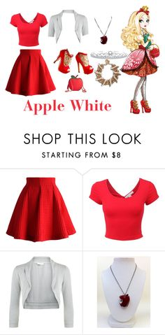 """""""Ever After High Apple White:)"""" by bunnyblanc101 ❤ liked on Polyvore featuring Chicwish, Monsoon, Once Upon a Time and Bling Jewelry"""