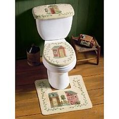 Outhouse Bathroom, Outhouse Decor, Hot House, Upstairs Bathrooms, Country Crafts, Paint Cans, Bathroom Sets, Interior Decorating, Decorating Ideas