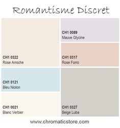 La délicatesse des couleurs pastel, naturelles ou poudrées s'affiche sur nos murs pour révéler une ambiance épurée tout en simplicité. www.chromaticstore.com #inspiration #deco #romantique