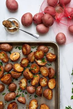 3 Ingredient Roasted Dijon Potatoes. This quick and easy side dish is so simple to make in the oven! Made with russet potatoes, it's pretty healthy if you're looking for ideas for sides for dinners of chicken, steak, pork chops, hamburger or a bbq. Perfect as an alternative to mashed potatoes for thanksgiving or a fall potluck or party.