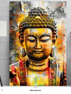 Scenery Paintings, Indian Art Paintings, Modern Art Paintings, Abstract Canvas Art, Acrylic Painting Canvas, Buda Painting, Budha Art, Buddha Drawing, Buddha Artwork