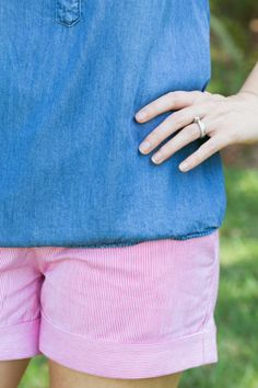 Stitch Fix Review April 2015 featuring Dear John Finnegan Roll Cuff Chino Short - I love the stripes on these shorts!